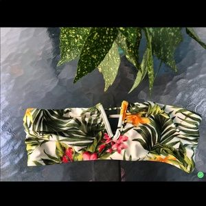 Forever 21 Tropical Floral Bikini Top